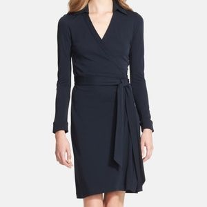 Diane Von Furstenberg Black wrap dress 8